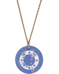 Lulu Frost - Vintage Zodiacs Poker Chip Pendant Necklace - Pisces Blue - Lyst