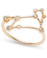 Lulu Frost - Zodiacs 14k & Diamond Leo + Fire Ring - Lyst