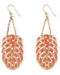 Lulu Frost - Hibiscus Earrings - Coral - Lyst
