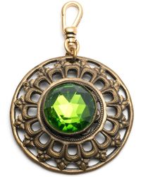 Lulu Frost - Antique Vibrant Green Crystal Charm - Lyst