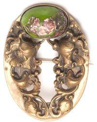 Lulu Frost - Antique Art Nouveau Floral Art Glass Brooch - Lyst