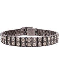 Lulu Frost - Vintage Art Deco Sterling Silver Double Row Crystal Bracelet - Lyst