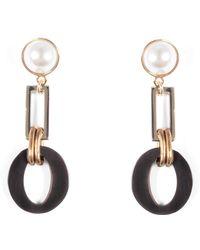 Lulu Frost - Eleanor Pearl Post Drop Earring - Lyst