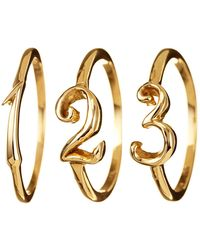 Lulu Frost - Code Number Ring Yellow Gold 14k Gold - Lyst