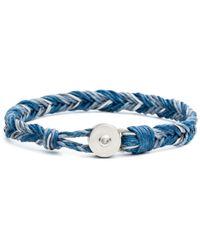 Lulu Frost - George Frost Woven Reflective Bracelet - Blue - Lyst