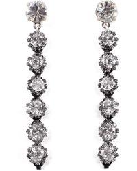 Lulu Frost - Beam Drop Earrings - Clear - Lyst