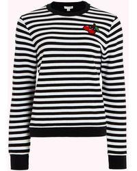 Lulu Guinness Black And Chalk Cherries Sami Sweatshirt