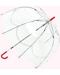 Lulu Guinness Clear Pearls Birdcage Umbrella - Multicolour