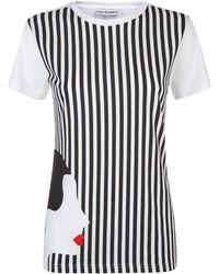 Lulu Guinness - Stripe Kissing Cameo Tara T-shirt - Lyst