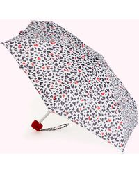 Lulu Guinness Cut Out Hearts Umbrella - Red