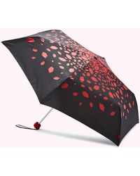 Lulu Guinness Red Raining Lips Umbrella