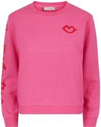 Lulu Guinness Peony Love One Another Sami Sweatshirt - Pink