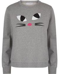 Lulu Guinness Grey Kooky Cat Sami Sweatshirt