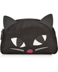Lulu Guinness - Kooky Cat Large Crescent Pouch - Lyst