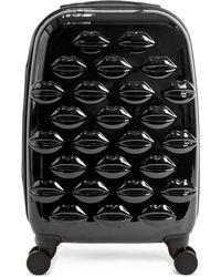 Lulu Guinness - Black Hard Sided Small Spinner Case - Lyst