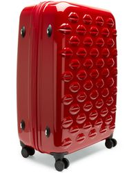Lulu Guinness - Red Hard Sided Lips Large Spinner Case - Lyst