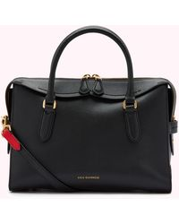 Lulu Guinness Black Leather Medium Dylan Handbag