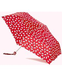 Lulu Guinness Red And Pink Beauty Spot Umbrella
