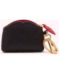 Lulu Guinness - Black Leather Colette Keyring - Lyst