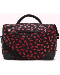 Lulu Guinness Handpainted Lips Fenella Holdall - Red