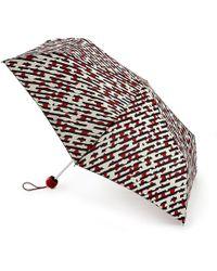 Lulu Guinness - Diagonal Stripe Lips Superslim Umbrella - Lyst