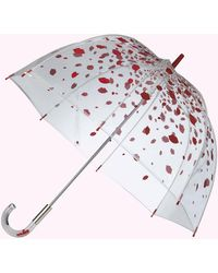 Lulu Guinness Raining Lips Birdcage Umbrella - Red