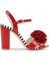 Lulu Guinness Red Celeste Sandal
