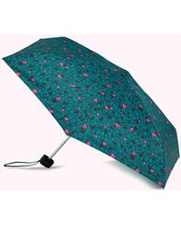 Lulu Guinness Emerald Scribble Hearts Tiny Umbrella - Green