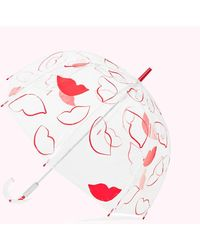 Lulu Guinness Lip Print Birdcage Umbrella - Red