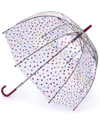 Lulu Guinness | Confetti Lip Print Bridcage Umbrella | Lyst