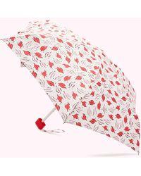 Lulu Guinness Beauty Spot Tiny Umbrella - Pink
