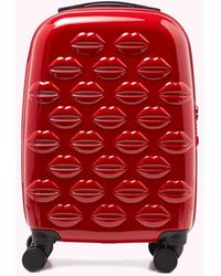 Lulu Guinness Small Lips Hardside Spinner Case - Red