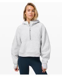 lululemon athletica Scuba Oversized 1/2 Zip Hoodie - Grey