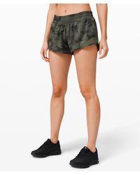 "lululemon athletica Hotty Hot Lr Short 2.5"" Lined - Green"