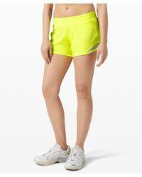"lululemon athletica Hotty Hot Low Rise Short 4"" - Yellow"
