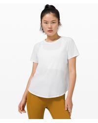 lululemon athletica Rise And Run Short Sleeve - White