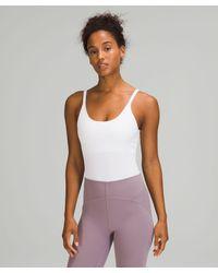lululemon athletica Ebb To Street Bodysuit Light Support, B/c Cups - White