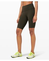 """lululemon athletica Fast And Free Short 10"""" Non-reflective - Green"""