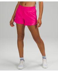 """lululemon athletica Hotty Hot Hr Short 4"""" Lined - Pink"""