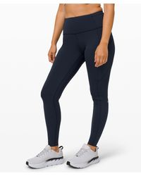 """lululemon athletica Fast And Free High-rise Tight 28"""" Non-reflective Brushed Nulux - Blue"""