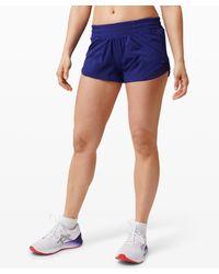"""lululemon athletica Hotty Hot Lr Short 2.5"""" Lined - Blue"""