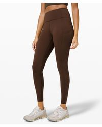 """lululemon athletica Fast And Free Hr Tight 25"""" - Brown"""