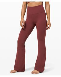 lululemon athletica Groove Pant Flare Super High-rise Nulu - Red
