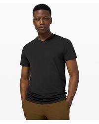 lululemon athletica The Fundamental V-neck T-shirt - Black