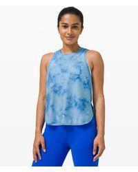 lululemon athletica Lightweight Run Kit Tank Top - Blue