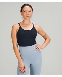 lululemon athletica Ebb To Street Bodysuit Light Support, B/c Cups - Blue