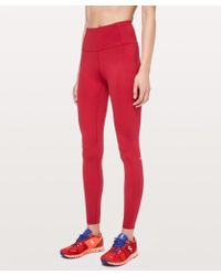 """lululemon athletica Fast And Free Tight 28"""" *non-reflective - Red"""
