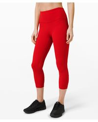 "lululemon athletica Pace Rival Hr Crop 22"" - Red"