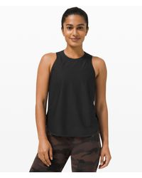 lululemon athletica Lightweight Run Kit Tank Top - Black