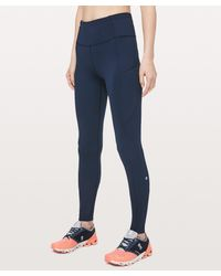 """lululemon athletica Fast And Free Tight 31"""" Non-reflective Online Only - Blue"""